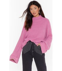 womens we really know our fluff-y knit sweater - rose pink