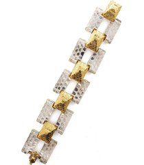 rock crystal tank bracelet