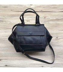 tory burch half-moon leather small satchel