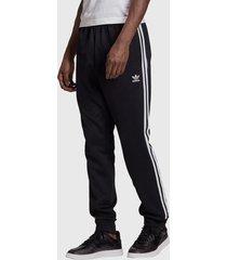 pantalón de buzo adidas originals sst tp p blue negro - calce regular