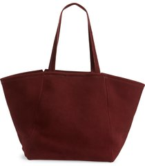 madewell the carryall tote - red