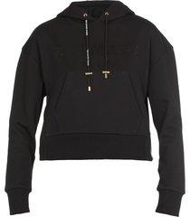 balmain cropped hoodie