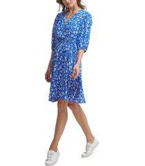 calvin klein petite ditsy floral a-line dress