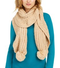 charter club ruffle-knit boa scarf, created for macy's