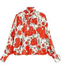 blouse silk stretch satin