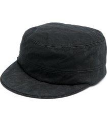 10 corso como floral-jacquard cap - black