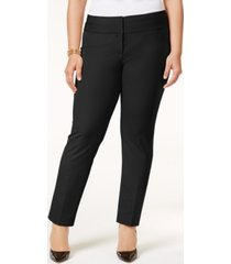 alfani petite plus size slim pants, created for macy's