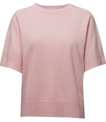 cashmere crew neck tee t-shirts & tops knitted t-shirts/tops roze filippa k
