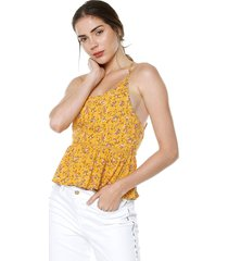 blusa amarillo active