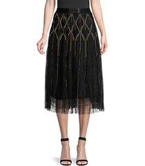 susana studded mesh skirt