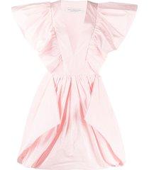 philosophy di lorenzo serafini taffeta puff-ball mini dress - pink
