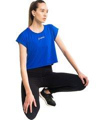 camiseta crop azul saeta bolero