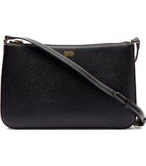 frances valentine poppy leather shoulder bag - black
