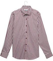 camisa a cuadros pequeños color vino, talla xs