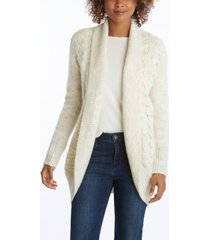 women's cocoon ribbed cardigan