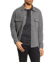 men's vince slim fit shirt jacket, size medium - grey