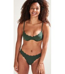 hunkemöller scallop glam rio-bikiniunderdel med låg midja grön