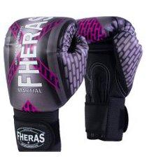 luva boxe muay thai fheras new top pró iron rosa 14 oz .