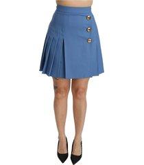 geplooide hoge taille mini rok
