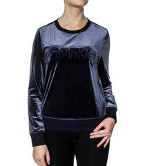 calvin klein cotton coord ls velour sweatshirt * gratis verzending *