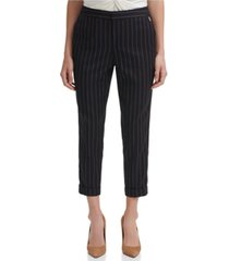 tommy hilfiger striped cuffed ankle pants