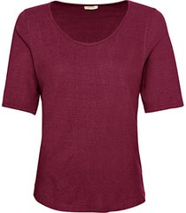 shirt met korte mouwen van bourette zijdenjersey, braam 36/38