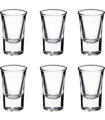 conjunto de 6 copos para shot bebidas vidro para festas enfeite 35 ml - kanui