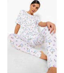 disney alice in wonderland pyjama leggings, white