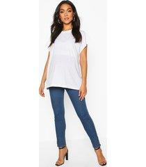 positiekleding skinny jeans, middenblauw