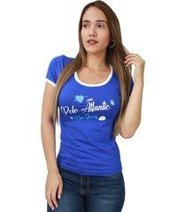 camiseta mujer azul rey - crm-2613-05