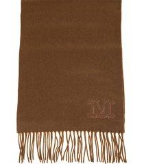 max mara wsdalia scarf in brown cashmere