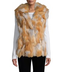 made for generation hooded fox fur vest