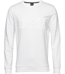 heritage sweatshirt sweat-shirt tröja vit boss