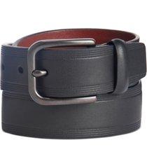 perry ellis men's embossed casual belt