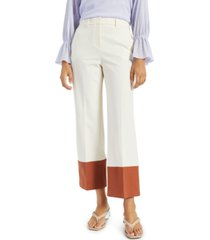 alfani petite straight-leg colorblocked pants, created for macy's