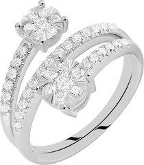 anello in oro bianco e diamanti 0,74 ct per donna