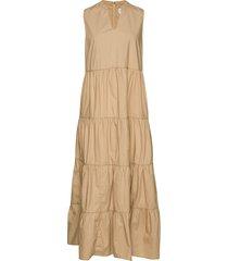 sleeveless tiered maxi dress maxiklänning festklänning beige gap