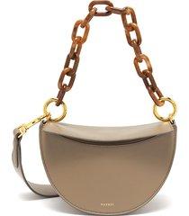 'doris' top handle leather shoulder bag