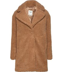 anf womens outerwear outerwear faux fur bruin abercrombie & fitch