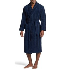 men's majestic international ultra lux robe, size large/x-large - blue