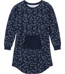 camicia da notte in felpa (blu) - bpc bonprix collection