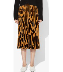 proenza schouler pleated skirt black/ochre xs