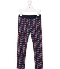 little marc jacobs all-over logo trousers - black