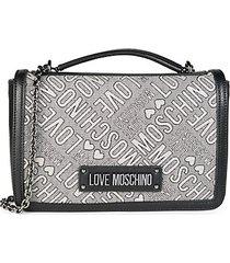 chain monogram satchel bag