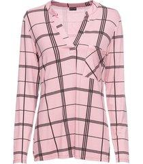 maglia a quadri con maniche lunghe (rosa) - bodyflirt