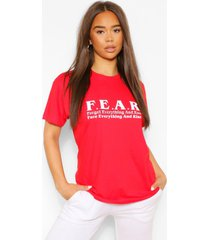 f.e.a.r t-shirt met afbeelding, rood
