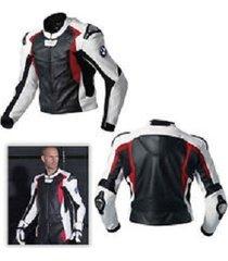 mens motorbike biker multi leather jacket safety pads for bmw
