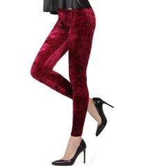 crushed velvet women's leggings