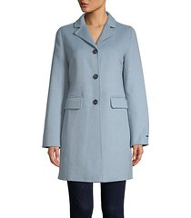 sophia single-breasted peacoat