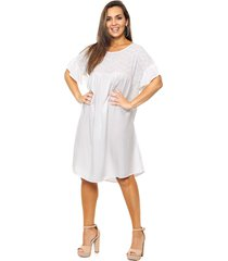 vestido blanco vindaloo combinado
